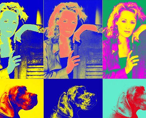 Popart im Andy Warhol Stil