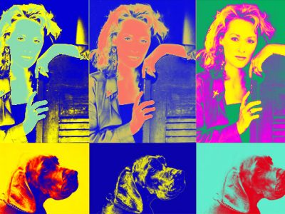 Pop-Art im Andy Warhol Stil